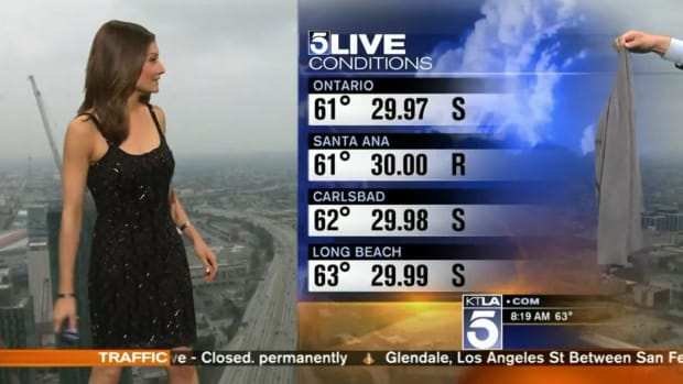 Meteorologist Asked To Cover Up During Broadcast (Video) Promo Image