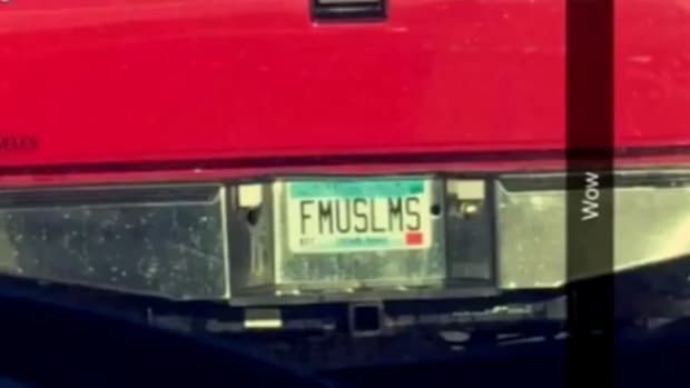 the offensive license plate