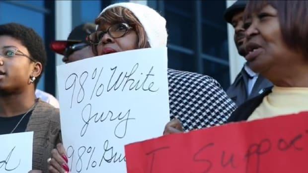 Protests For Judge Olu Stevens.
