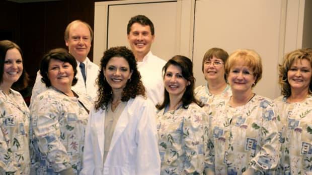 Dentist Tina Marshall And Her Staff.