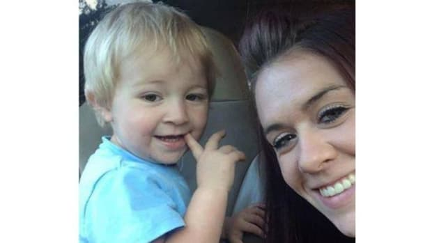 2-year-old DeOrr Kunz and his mother, Jessica Mitchell
