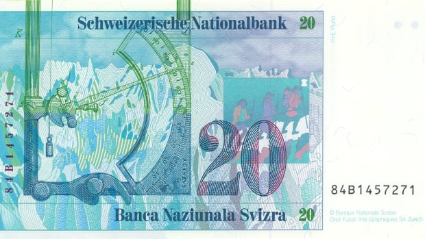 Swiss currency.