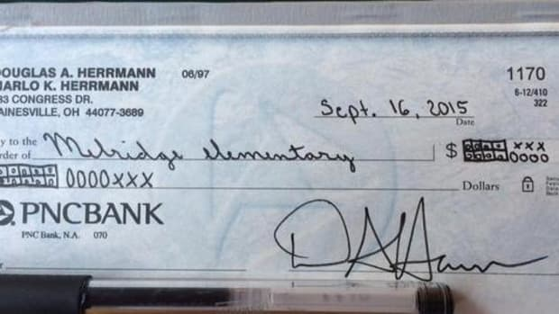 Parent's Check To Child's School Using Common Core Math