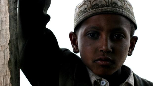 A Muslim child.