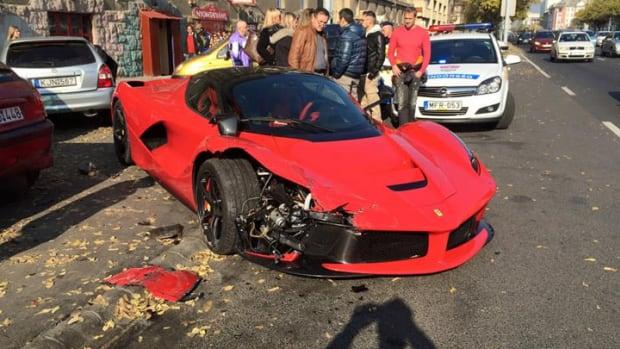 crashed laferrari