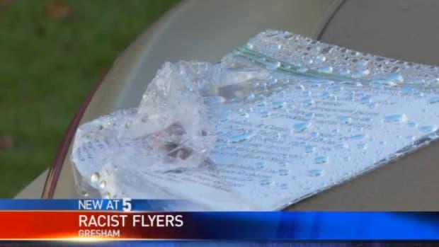 Racist Flier In Gresham, Oregon.
