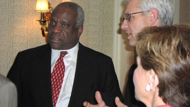 Clarence Thomas Asks Question, First Time In a Decade Promo Image