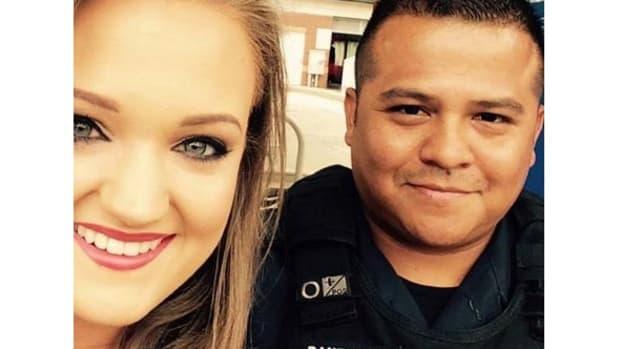 Left: Kat Hartman, Right: Officer Thomas Bautista