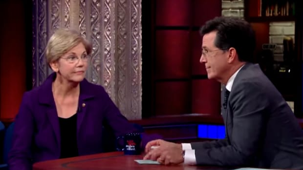 Sen. Elizabeth Warren Sitting Down With Stephen Colbert