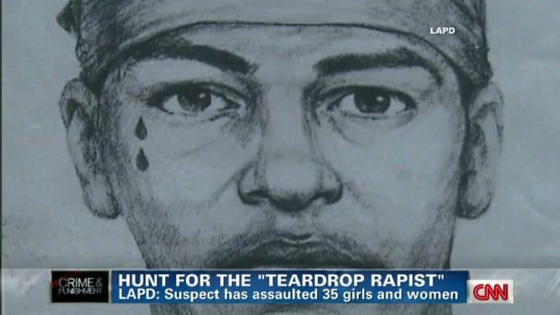 A Forensic Sketch Of The Teardrop Rapist.