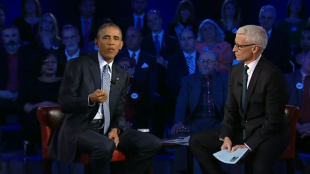 President Barack Obama with Anderson Cooper