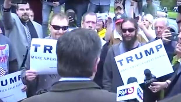 Trump Voters Heckle Cruz: 'Are You Canadian?' (Video) Promo Image