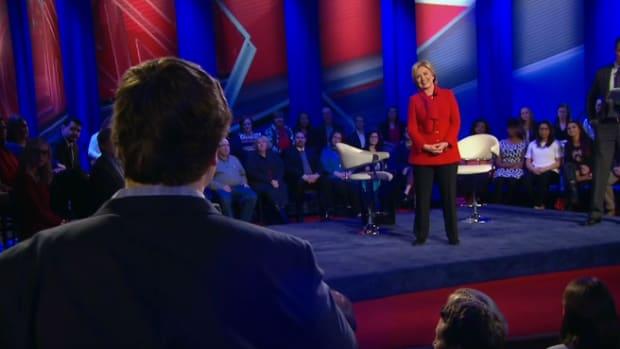Hillary Clinton At An Iowa Town Hall Meeting