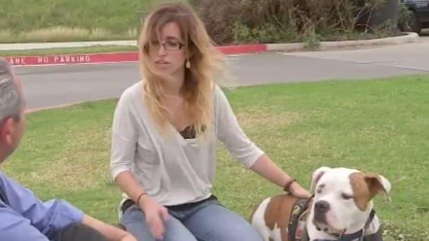 Robyn Slusky with her service dog Deuce
