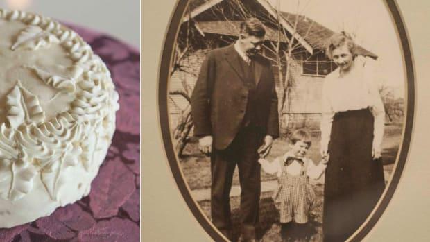 100-Year-Old Wedding Cake.