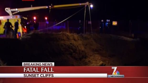 Sunset Cliffs, where the man fell to his death