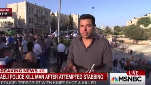 msnbc reporter Ayman Mohyeldin speaking from israel