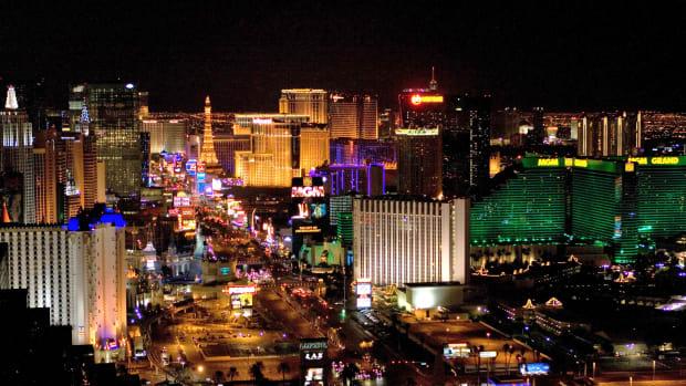emergency vehicles at Las Vegas Strip
