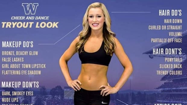 Univ. Of Washington Cheerleader 'Tryout Look' Offends Promo Image