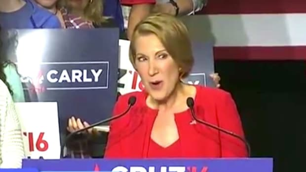Cruz's VP Pick Carly Fiorina Breaks Into Song (Video) Promo Image