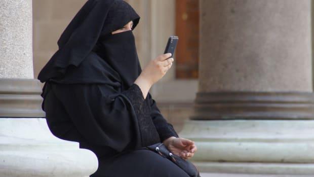 woman in a burqa