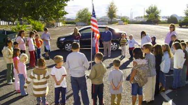 Children Praying School