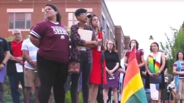 Vigil For Orlando Victims Slams White People (Video) Promo Image
