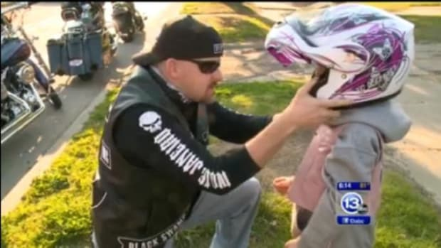 Motorcycle Group Helps Out Bullied Girl Promo Image