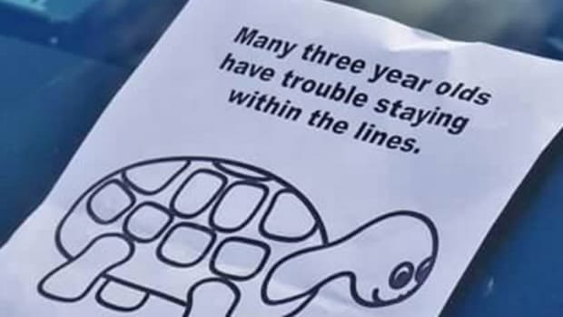 parking note with turtle