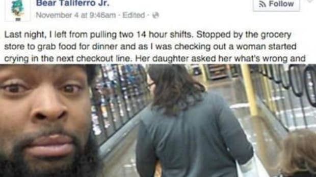 Man's Encounter With Crying Mother At Grocery Store Takes Unexpected Turn (Photo) Promo Image