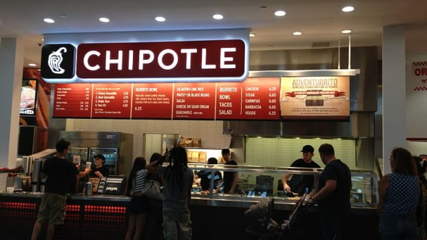 Inside a Chipotle restaurant