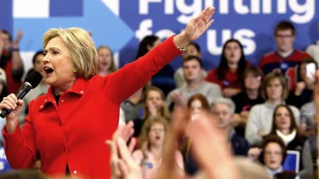 Hillary Clinton fighting