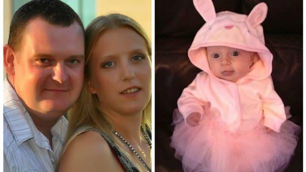 Parents Gemma and Jason and newborn Lexi