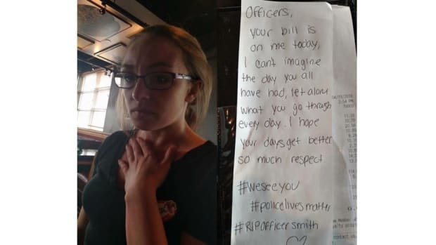 Waitress Pays For Officers' Meals After Funeral Promo Image