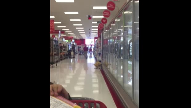 Sexually explicit audio plays from Target intercom