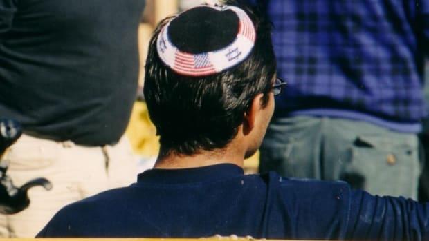 A Man Wearing A Kippah.