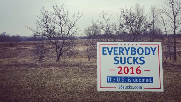 'Everybody Sucks 2016' Campaign Sign Goes Viral Promo Image