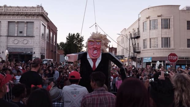 Mexicans Burn Donald Trump Effigies On Easter Promo Image