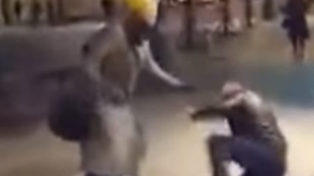 Molester Gets Beaten By A German Woman