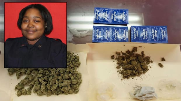 Marijuana found in Nicole Bartley's home (inset: Nicole Bartley)