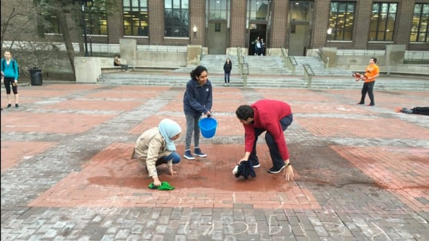 Anti-Muslim, Pro-Trump Chalkings Hit Michigan Campus Promo Image