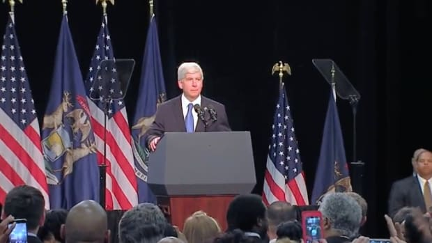 Michigan Governor Booed Off Stage In Flint (Video) Promo Image
