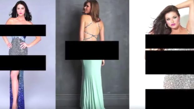 prom dresses shown in high school's video