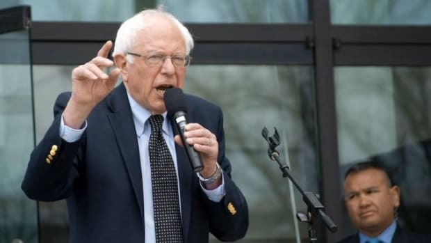 Sanders Not Dropping Out Yet After Meeting With Obama Promo Image