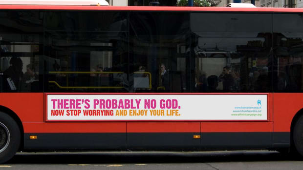Atheist Message On A Bus.