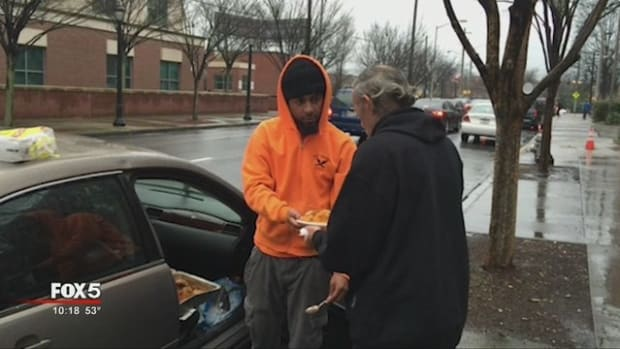 Man Feeding The Homeless Inspires Others (Video) Promo Image