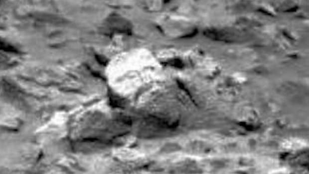 a face allegedly spotted on mars