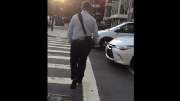 man confronted in video