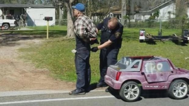 Man Arrested For Driving Toy Car Is Not What You Think Promo Image