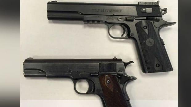 Colt Gun and Replica.